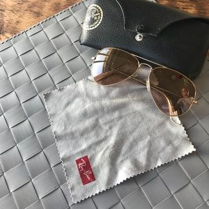 Ray-Ban Aviator sunglasses, gold, preowned